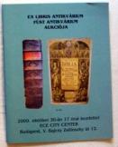Ex Libris és Füst Antikvárium aukciós katalógusa