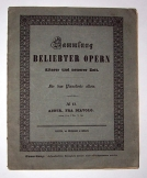Sammlung Beliebter Opern német kotta