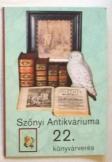 Szőnyi Antikváriuma 22. könyvárverés katalógusa