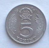 1 db magyar 5 Forint 1978 pénzérme fémpénz