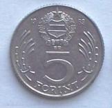 48 db magyar 5 Forint 1989 pénzérme fémpénz
