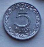 5 db Magyar 5 fillér 1964 fémpénz pénzérme