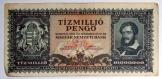 Antik Régi 10 millió pengő 1945 papírpénz