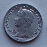 Magyar 5 fillér 1957 fémpénz pénzérme