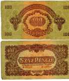papírpénz 100 pengő