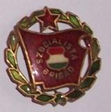 Szocialista brigád zöld koszorús kitüntetés kitűző