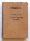 Eckhardt Sándor: Francia-Magyar szótár akadémia ki
