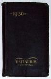 1936 Esti Kurir napló naptárkönyv  hasznos adatok