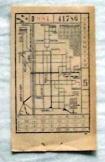 1945 előtti BKV-jegy  BSZK Rt átszálló BHÉV jegy