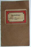 Házbérkönyv Nagy János részére 1926 -ból