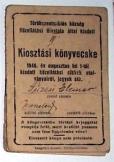 Kiosztási könyvecske 1946 évi augusztus hó 1-től