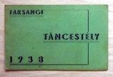 Meghívó a Táncestélyre Turul szövetség 1938