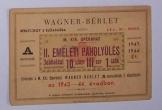 Wagner bérlet 1943-44 Magyar Királyi Operaházba
