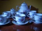 Hollóházi teás és süteményes készlet komplettan