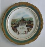 Vatikáni Szent Péter tért ábrázoló Porcelán tányér