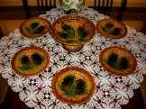 Villeroy & Boch majolika süteményes készlet