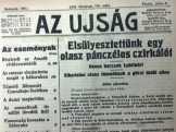 """100 ÉVES """"Az Újság""""I.világháborús tudósítások 1915"""