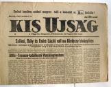 Kis ujság napilap FKGP pártlapja 1945. október 31.
