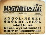 Magyarország napilap 1938. október 1. XLV évf. 221