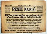 Pesti Napló 1938. szeptember 27. 89 évf. 195. szám