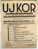 Ujkor  hetilap  1936 október 5. 2. évf. 20. szám