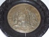 Főző Pásztorokat ábrázol fém dombormű fakeretben