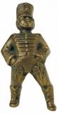 Huszár (kis magyaros figurák) .Méret: 4x9.5x4.5 cm