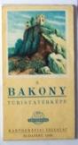 Bakony turistatérképe 1966 Kartográfiai Vállalat