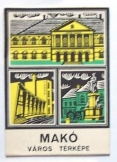 Makó város térképe 1970 évekbeli Kartográfiai Váll