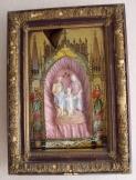 A szent család házi oltár füst aranyozott