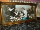 Egyházi kép,antik képkerettel