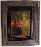 Jézus az angyalokkal füst aranyozott kép