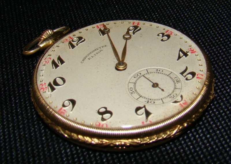 Elida chronometre Svájci arany zsebóra  72863be100